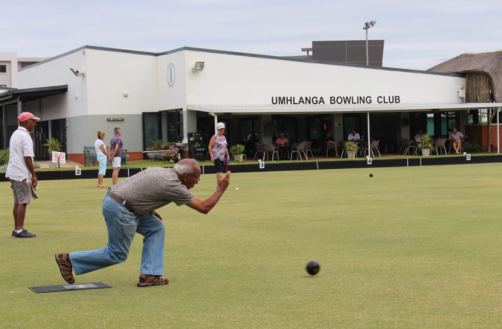 bowls club action in Umhlanga